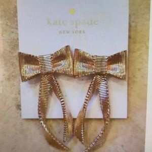 NWT Kate Spade AllWrappedUp Bow Rose Gold Earrings